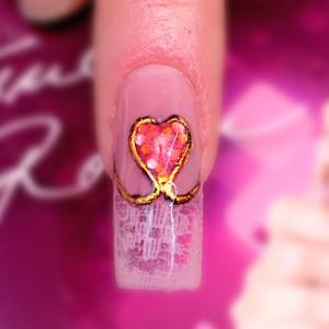 Dantela roz - Modele de Valentine's Day